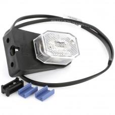 LED gabarītlukturis Flexipoint, balts, elastīgs stiprinājums ( novietojams sānos, 1m kabelis)